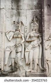 Apsara in Angkor Wat Siem reap Cambodia