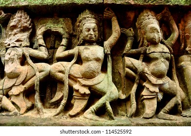 Apsara Dancers Stone Carving
