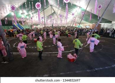 Apucarana, Paraná, Brazil - 06-23-2018.  Traditional party in Apucarana where the laborious Japanese colony comes through its descendants keeping the tradition with much affection and self-denial.