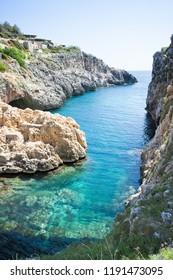 Apulia, Leuca, Italy, Grotto of Ciolo - From Grotto Ciolo to the adratic sea