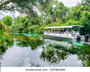 Aqua Belle boat ride down the Weeki Wachee Springs River in Florida - Weeki Wachee Florida July 7, 2019