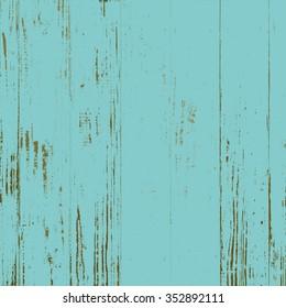 Aqua Blue Distressed Wood Background