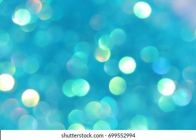 Aqua Blue iridescent confetti glitter abstract background Study (focus, unfocused, light, shadow)