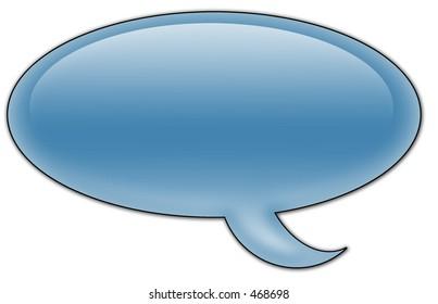 Aqua Chat Bubble