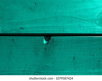 Aqua colored wall from a natural wood. Texture and background. Interior Design
