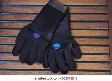 Aqua gloves.Diving equipment