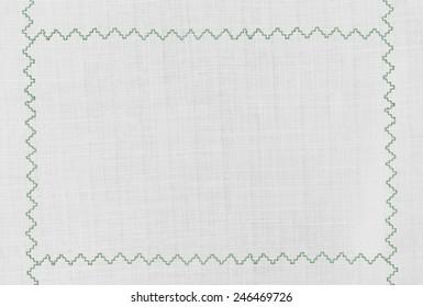 Aqua green embroidered border