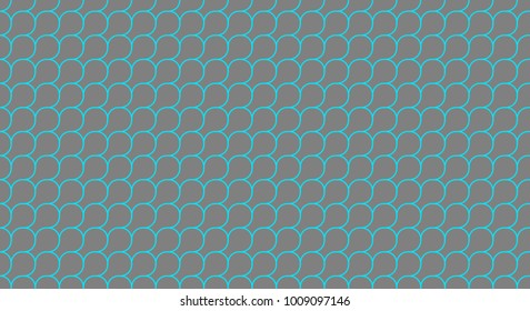 aqua and grey squama or microbial mat seamless geometric pattern