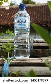 """""""Aqua"""" mineral drink products produced by Danone, Blora, Central Java, Indonesia, April 12, 2019"""