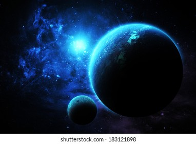 Aqua Planet - Elements of this Image Furnished By NASA