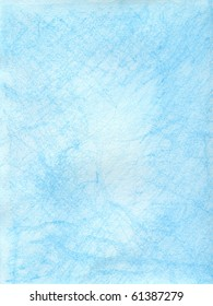 Aqua watercolor crayon background with texture and lighter center