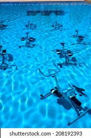 Aquabike in swimmingpool