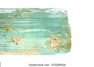 aquamarine crystal gemstone close up