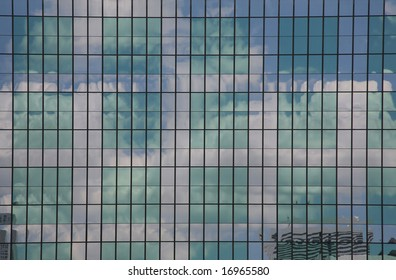 Aquamarine Skyscraper Window Grid(Release Information: Editorial Use Only. Use of this image in advertising or for promotional purposes is prohibited.)