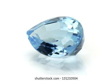 Aquamarine or Topaz Gemstone