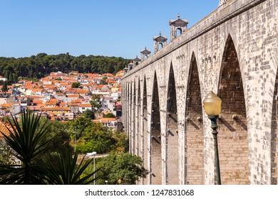 The Aqueduct Aguas Livres in Portuguese: Aqueduto das Aguas Livres Aqueduct of the Free Waters is a historic aqueduct in the city of Lisbon, Portugal