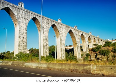 "The Aqueduct Aguas Livres (Portuguese: Aqueduto das Aguas Livres ""Aqueduct of the Free Waters"") is a historic aqueduct in the city of Lisbon, Portugal"
