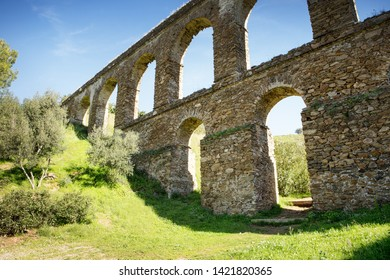 aqueduct built by the Romans in almunecar spain