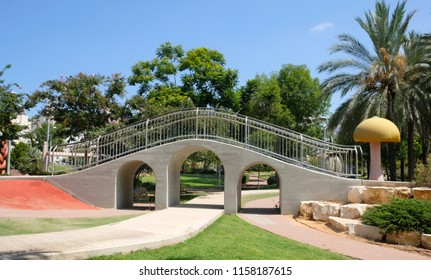 Aqueduct in a children's park in the city of Holon in Israel.