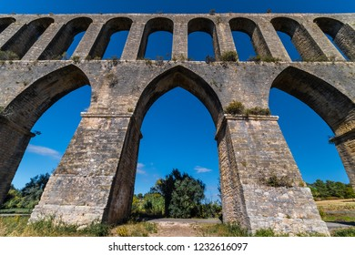 Aqueduct of the Pegoes (Aqueduto dos Pegões) The construction of the aqueduct began in 1593 and finished in 1614.