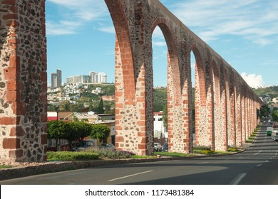 Aqueduct at Queretaro, Mexico, antique construction