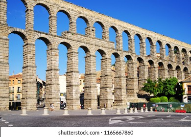 Aqueduct of Segovia, World Heritage Site of UNESCO, Spain, Europe