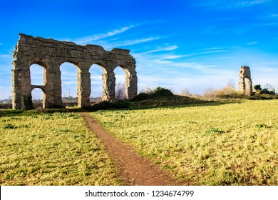 Aqueducts park on Appia street, Rome , Italy