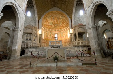 Aquileia, Italy. April 12 2015, interior of the cathedral.