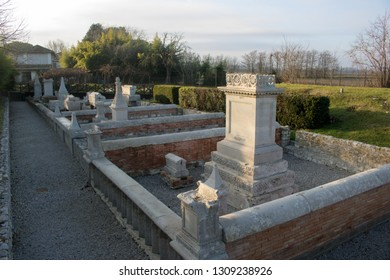AQUILEIA, ITALY - DECEMBER 26, 2018: Sepolcreto Romano in Aquileia, Italy.