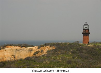 Aquinnah Lighthouse on Aquinnah )Gay Head) Cliffs, Martha's Vineyard