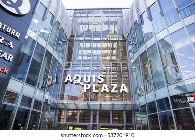 Aquis plaza is a modern mall in Aachen on Dec 5, 2016 Germany
