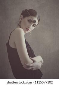 Ar Beauty. Retro styled female portrait.