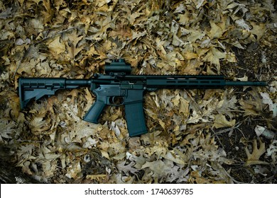 AR-15 Sporting Rifle in the Leaves