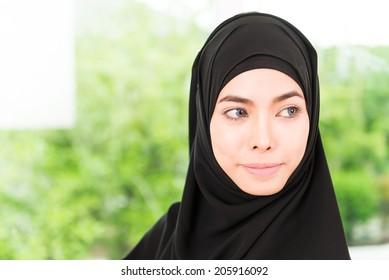 Arab business woman working
