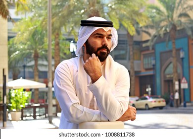Arab Businessman Wearing UAE Traditional Dress ( Vision Business )