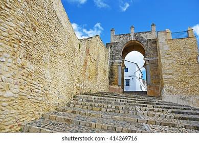 Arab door of Century X in Medina Sidonia, Cadiz.
