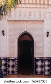 Arab Door with Ornaments in Medina, Marrakech, Marocco