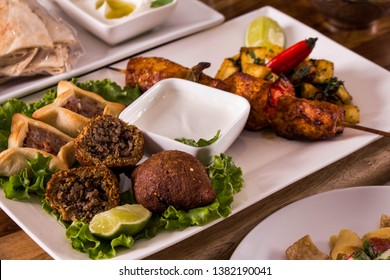 Arab Food, Kibe, Sfiha, Shish taouk, lemon