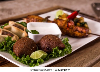 Arab Food, Kibe, Sfiha, Shish taouk, lemon 2