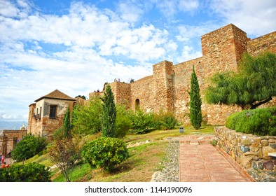 Arab Fortress of the Alcazaba of Malaga, capital of the Costa del Sol, Andalusia, Spain