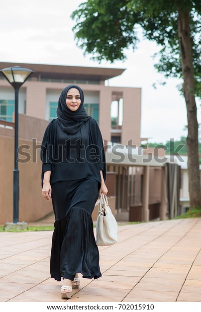 Arab Girls Walking Park Stock Photo Edit Now 702015910