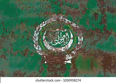 Arab League grunge flag, regional organization of Arab states