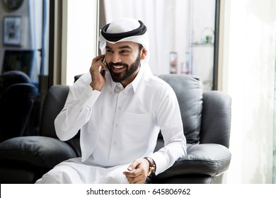 Arab Man Portrait  ( confident business man )
