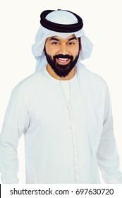 Arab Man Portrait  ( Happy Confident Smile )