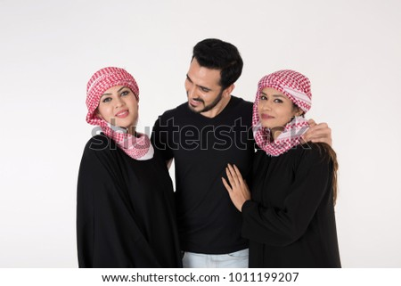 arab women white men