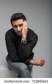 Arab men actor business  play in studio