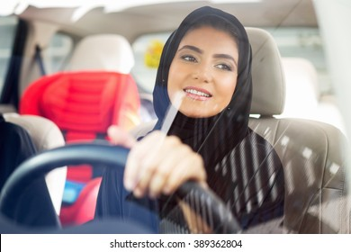 Arab women driving car