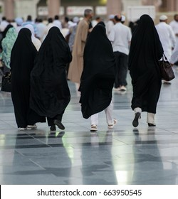Arab women on the street walking