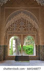Arabesques around a window