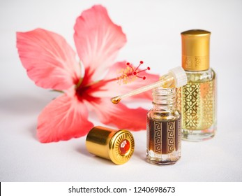 Arabian attar in a mini bottle. Concentrated oud oil perfume.